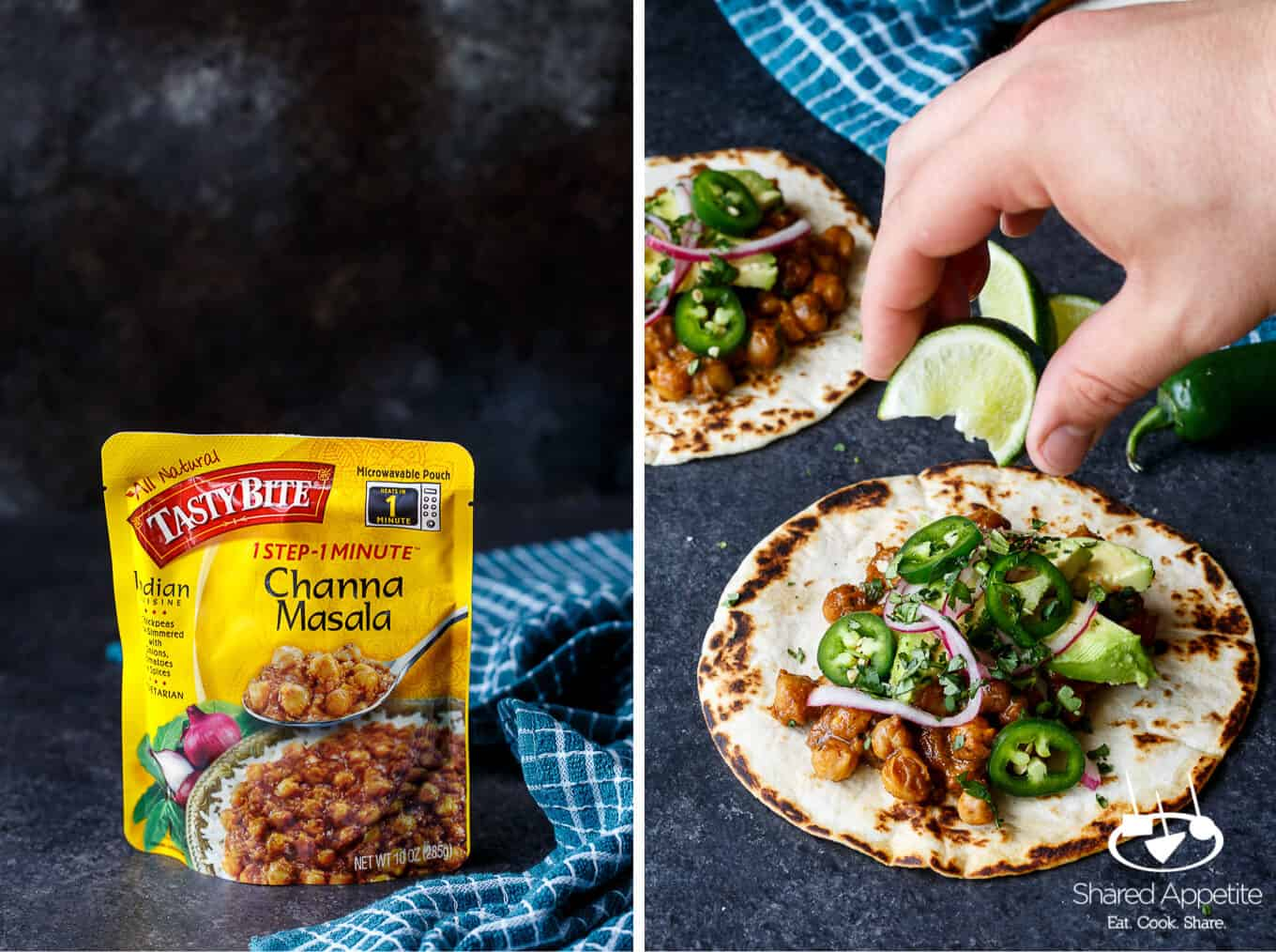 Channa masala vegetarian indian tacos shared appetite channa masala is now available anytime i want it i just need to open my pantry pop a pouch of tasty bite channa masala in the microwave forumfinder Gallery