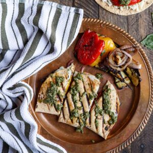 Grilled Vegetable Pesto Quesadillas