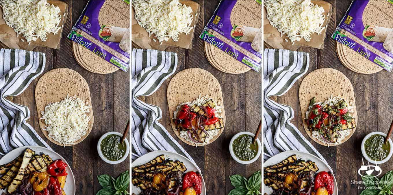Grilled Vegetable Pesto Quesadillas | sharedappetite.com