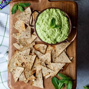 5 Minute Sweet Pea Goat Cheese Dip