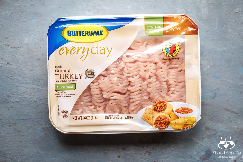 Butterball Ground Turkey for Greek Turkey Burgers | sharedappetite.com