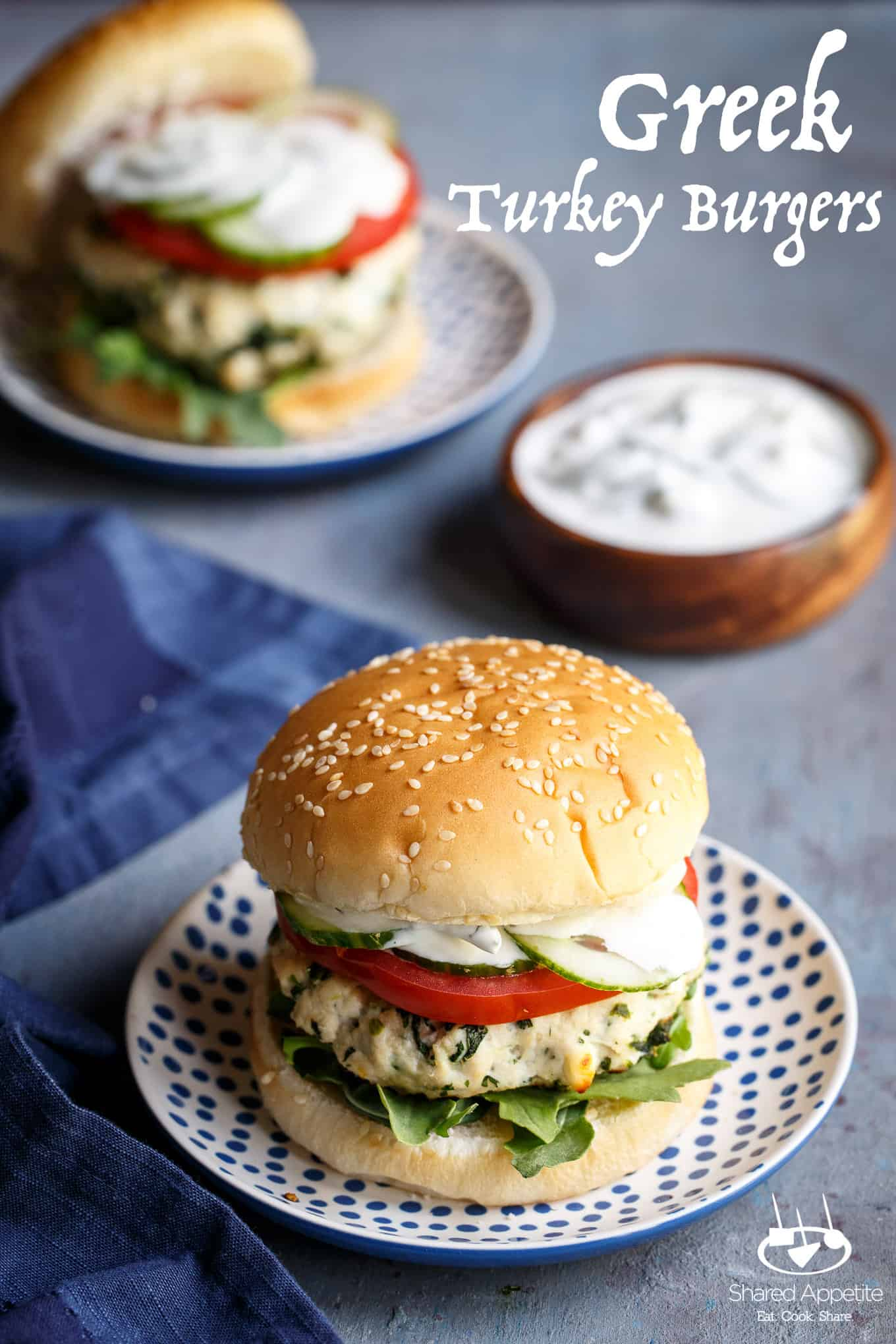 Greek Turkey Burgers   sharedappetite.com