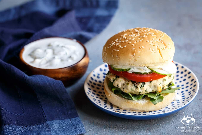 Greek Turkey Burgers | sharedappetite.com