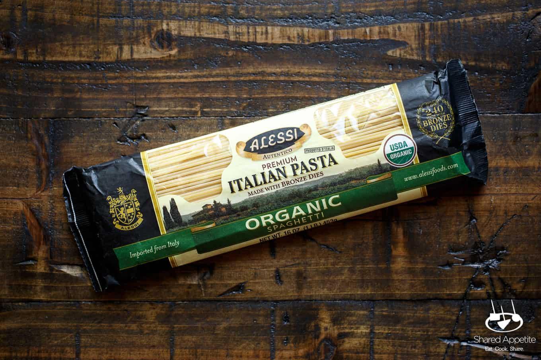 Alessi Organic Spaghetti for Summer Vegetable Pasta with Arugula Pesto | sharedappetite.com