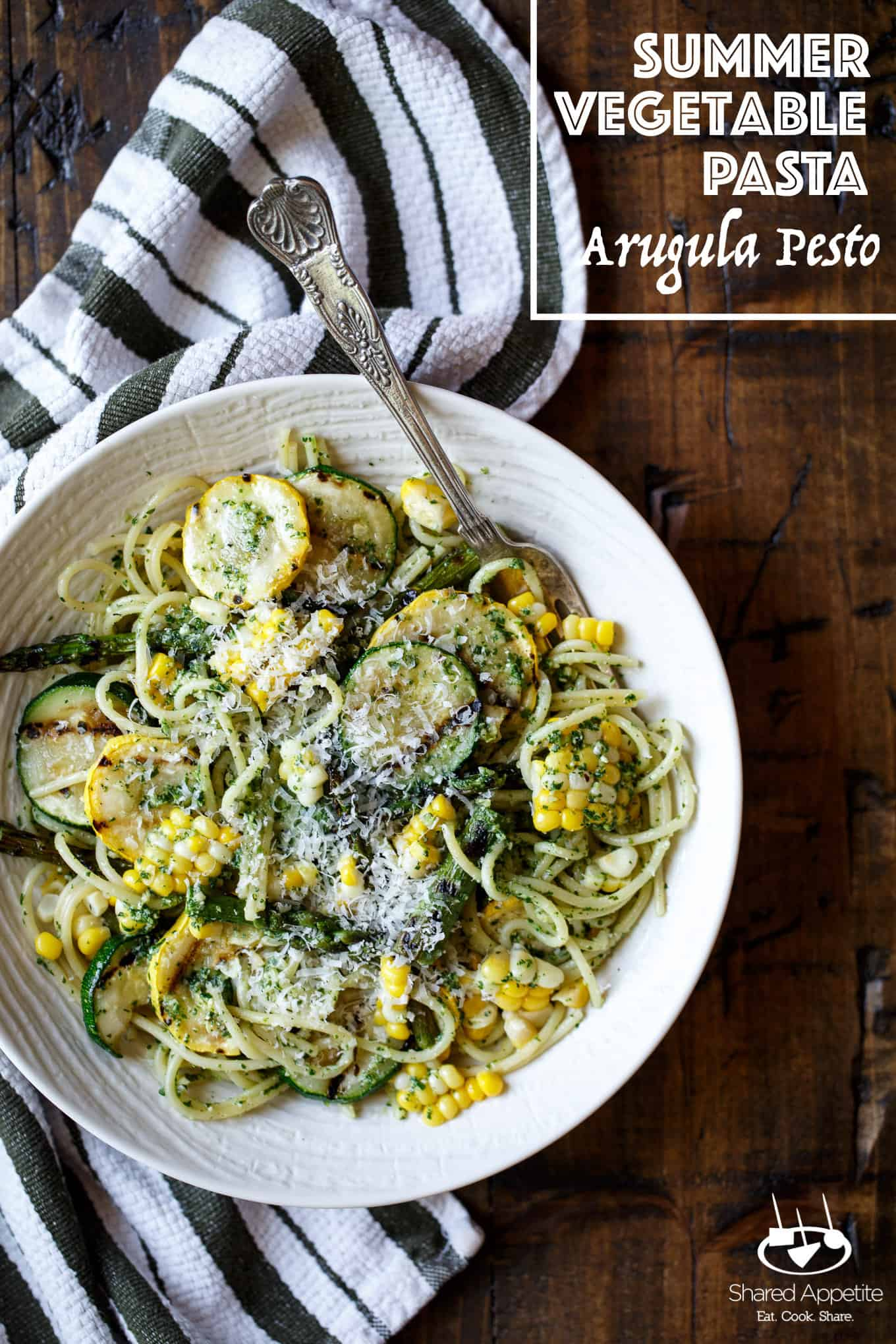 28 Best - Summer Vegetable Pasta With Arugula Pesto Shared ...