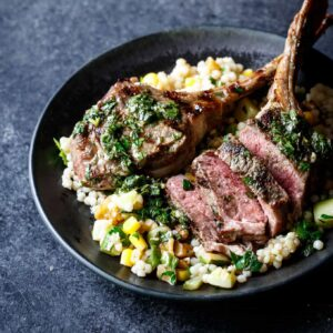 Grilled Lamb Chops with Mint Chimichurri | sharedappetite.com