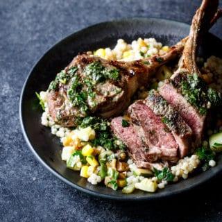 Grilled Lamb Chops with Mint Chimichurri   sharedappetite.com