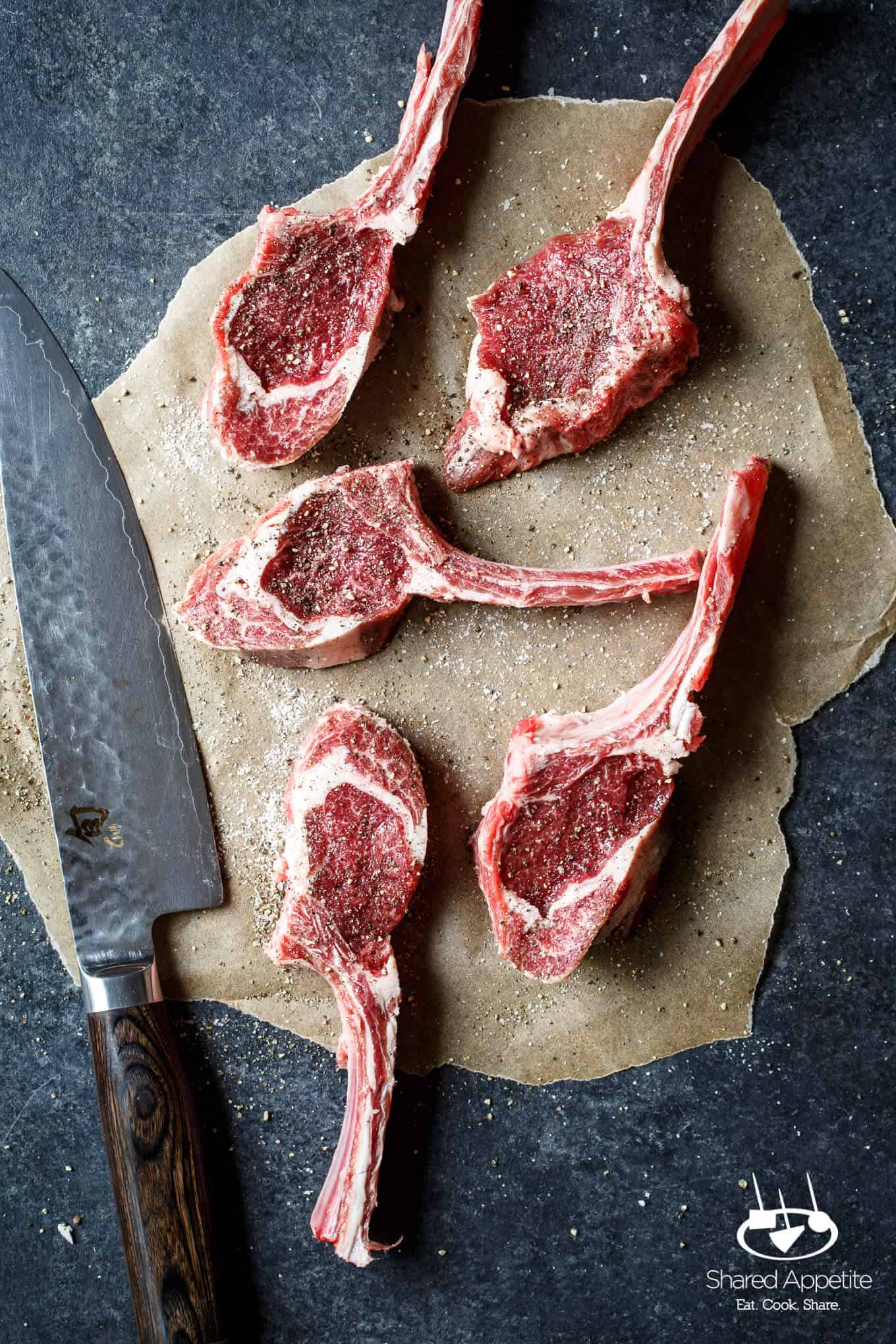 American Lamb Chops for Grilled Lamb Chops with Mint Chimichurri | sharedappetite.com