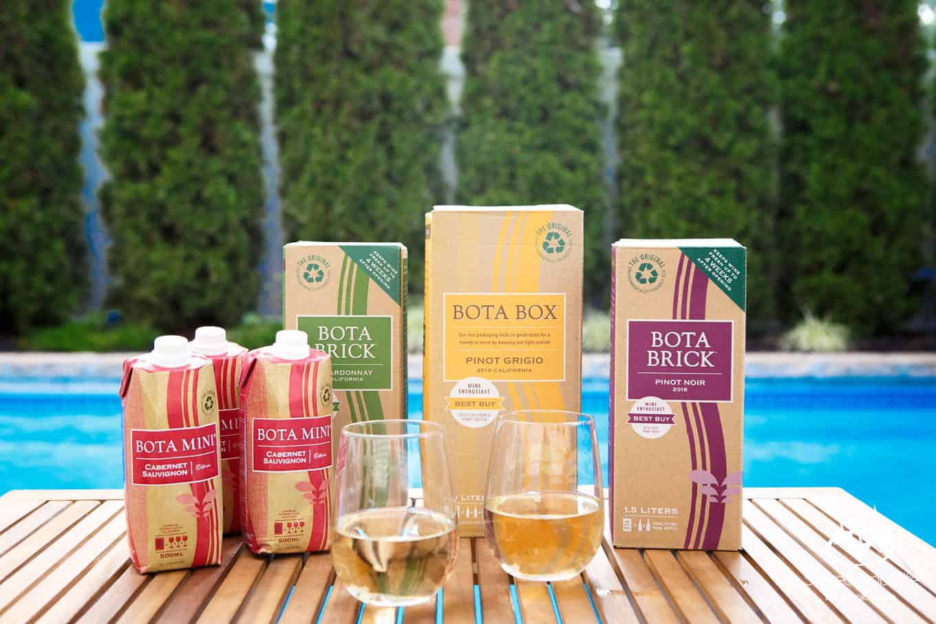Bota Box Wine by the Pool