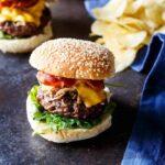Pulled Pork Bacon Cheeseburgers | sharedappetite.com