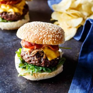Pulled Pork Bacon Cheeseburgers
