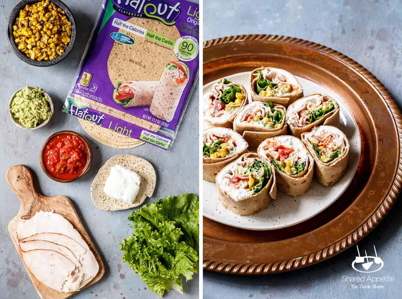 Southwest Turkey Wraps | sharedappetite.com
