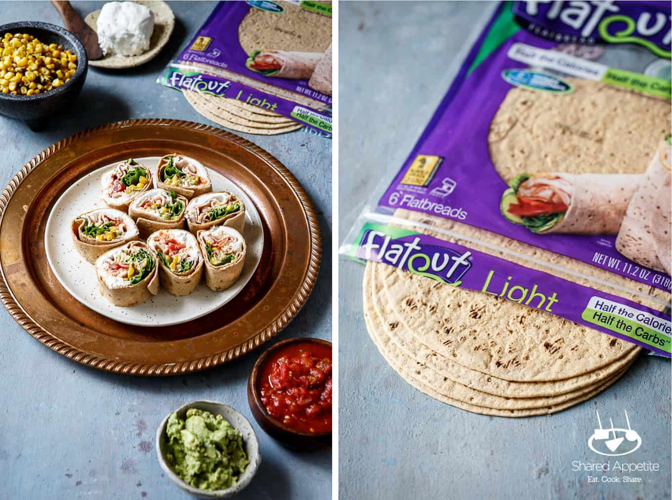Flatout Bread wraps for Southwest Turkey Wraps | sharedappetite.com