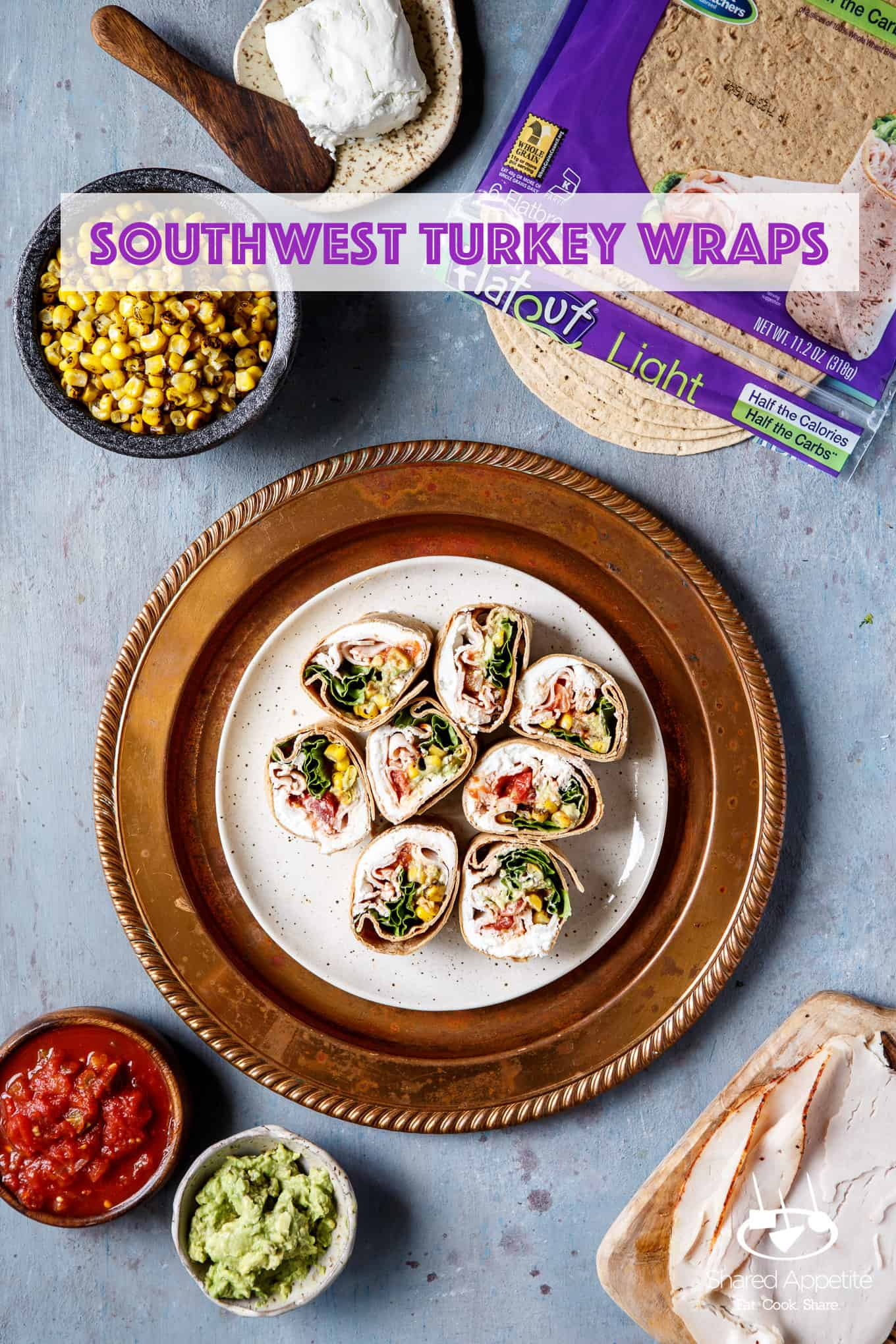 All the ingredients for Southwest Turkey Wraps | sharedappetite.com