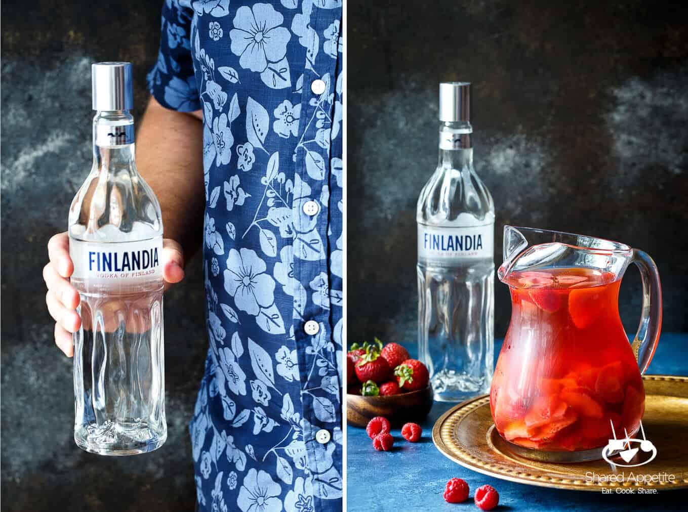 Sparkling Berry Rose Sangria | sharedappetite.com