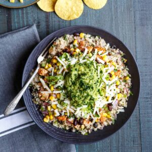 Healthy Cauliflower Rice Burrito Bowls