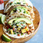 Healthy Turkey Tacos with Pineapple Salsa   sharedappetite.com