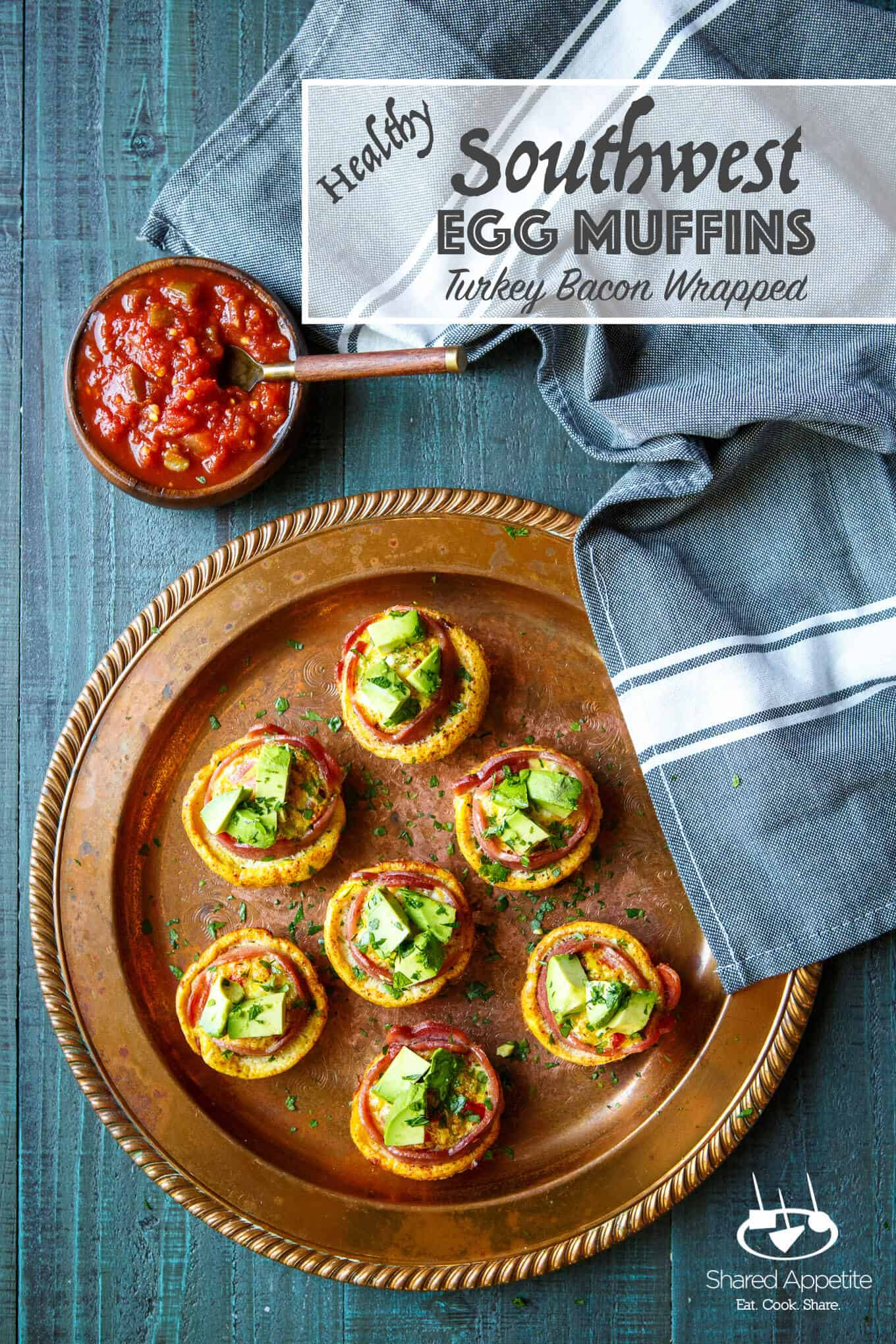 Healthy Turkey Bacon Wrapped Southwest Egg Muffins