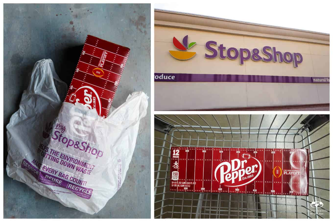 Getting Dr. Pepper at Stop and Shop for Slow Cooker Dr. Pepper BBQ Pulled Chicken Sliders   sharedappetite.com