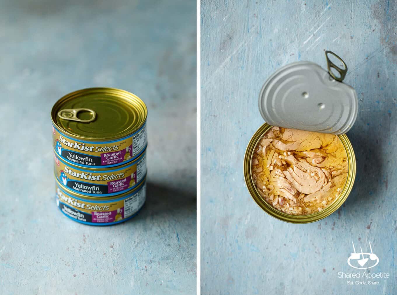 Starkist EVOO Tuna for Mini Mediterranean Tuna Pita Wraps | sharedappetite.com