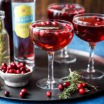 Sparkling Cranberry Rosemary Cocktails | sharedappetite.com