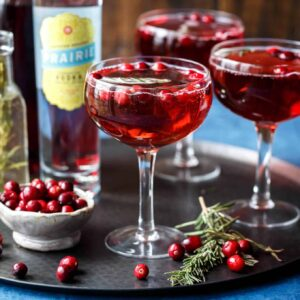 Sparkling Cranberry Rosemary Cocktails