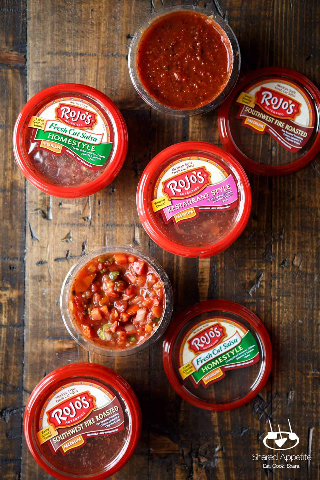 Rojo's Salsa for Chicken Enchilada Crescent Ring | sharedappetite.com