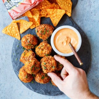 Doritos Mac and Cheese Balls | sharedappetite.com