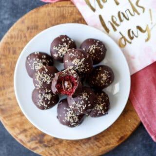 Nutella Filled Red Velvet Cake Truffles | sharedappetite.com