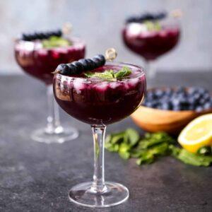 Sparkling Blueberry Lemonade Mojitos