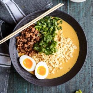 Spicy Lamb Coconut Curry Ramen | sharedappetite.com