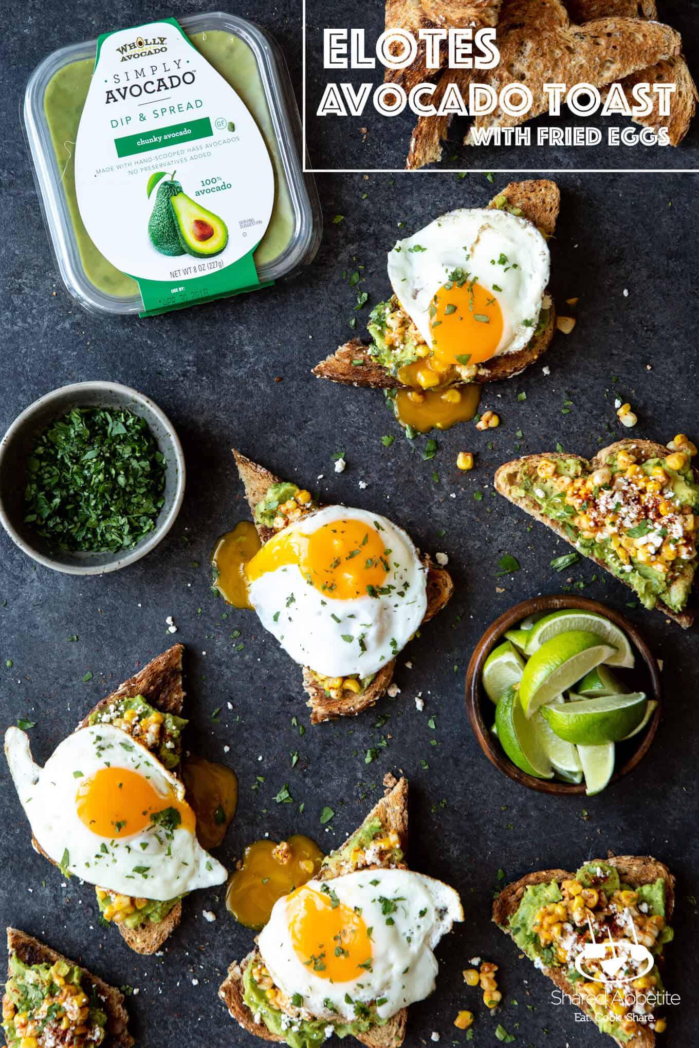 Elotes Avocado Toast with a Fried Egg   sharedappetite.com