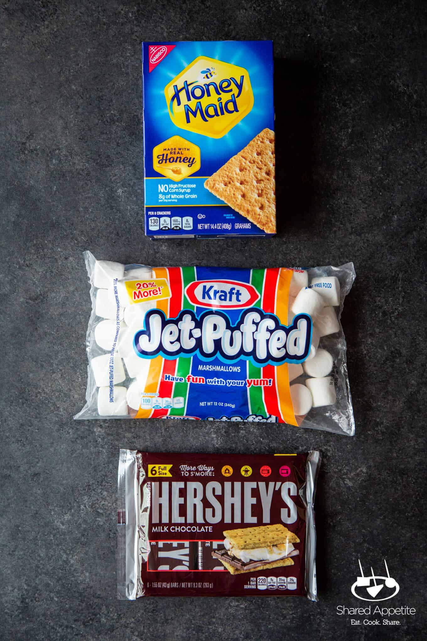Ingredients for DIY S'MORES BAR PARTY | sharedappetite.com