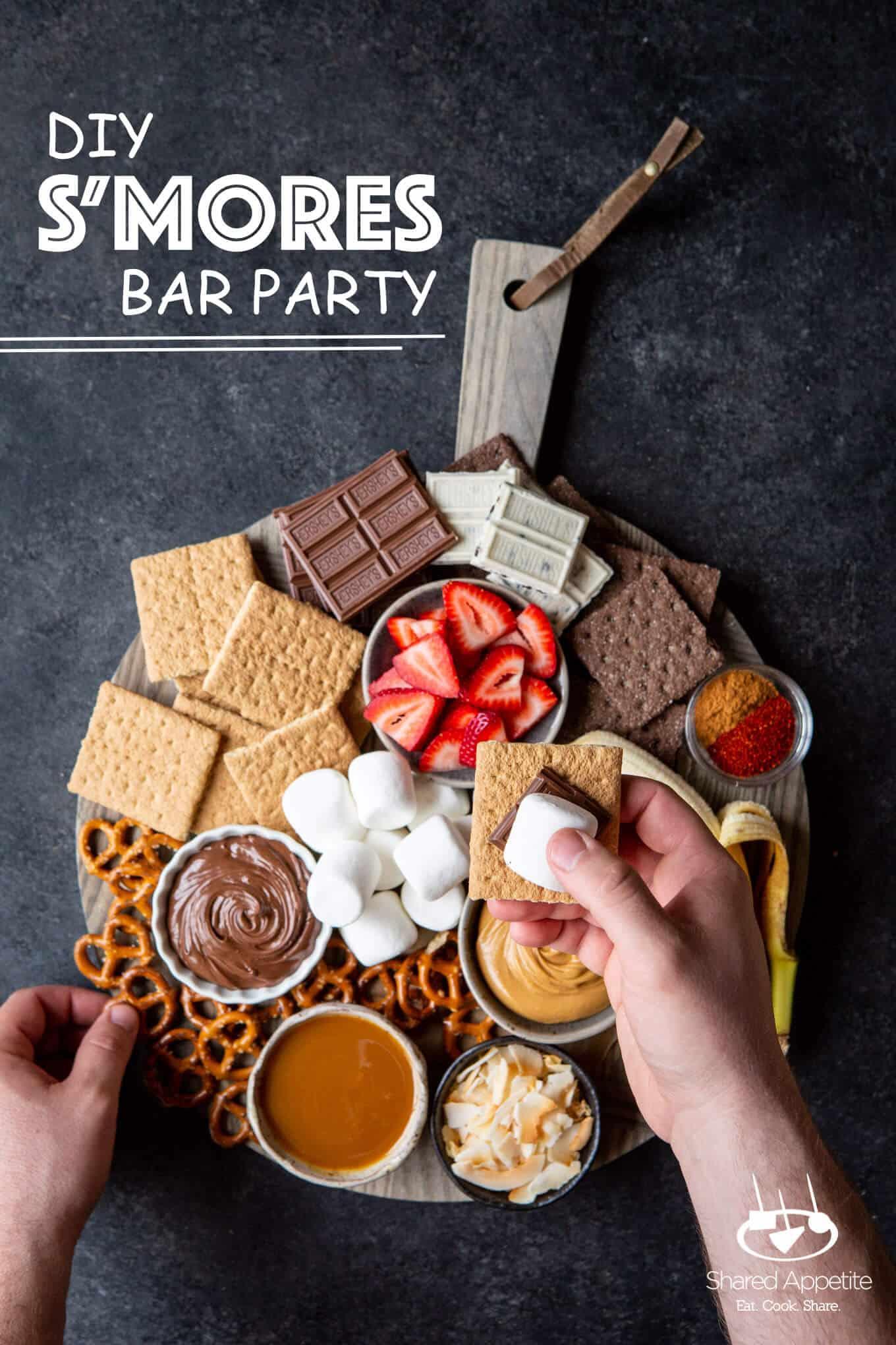 DIY S'MORES BAR PARTY | sharedappetite.com