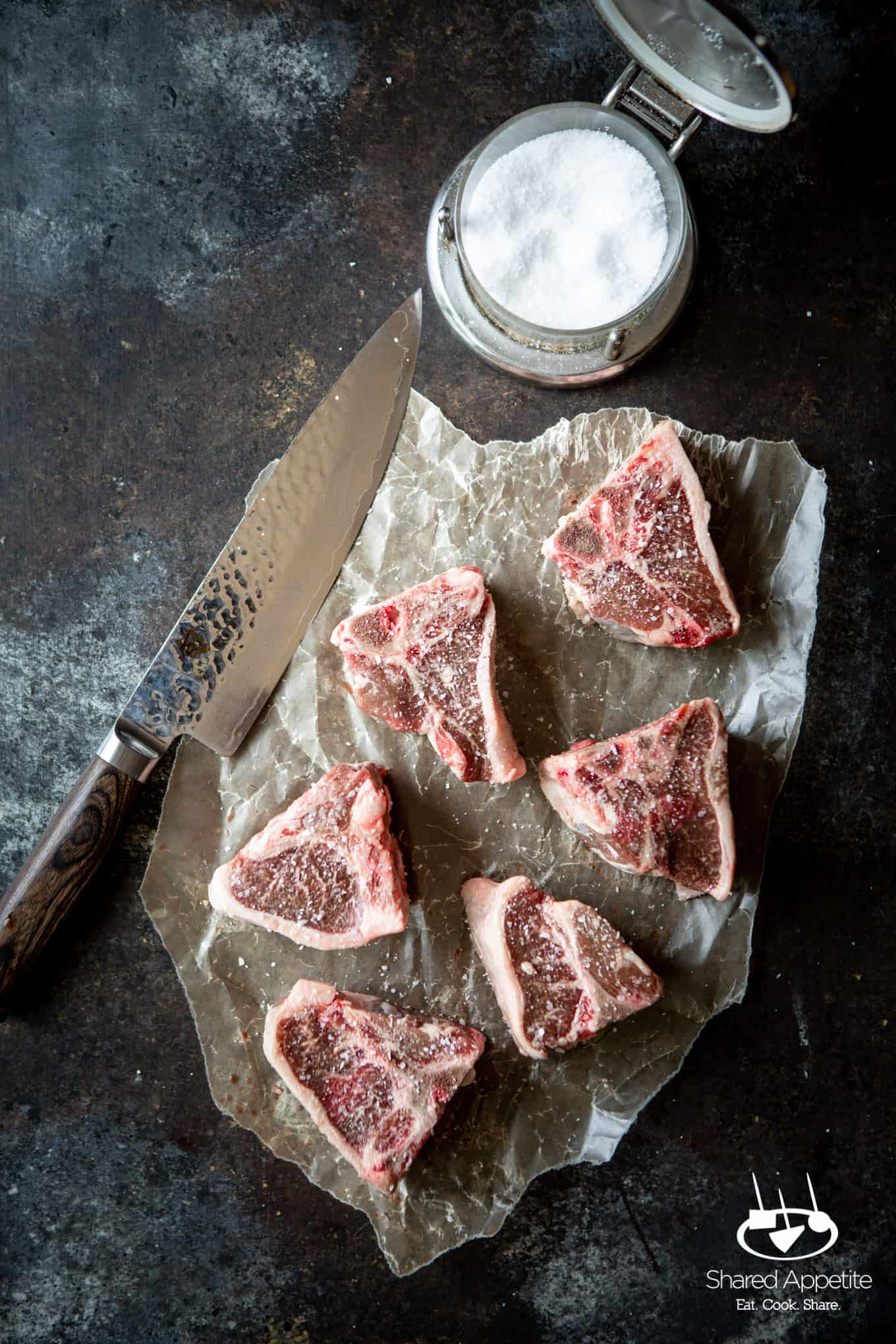American Lamb Loin Chops for Korean Lamb Chops with Grilled Scallions | sharedappetite.com