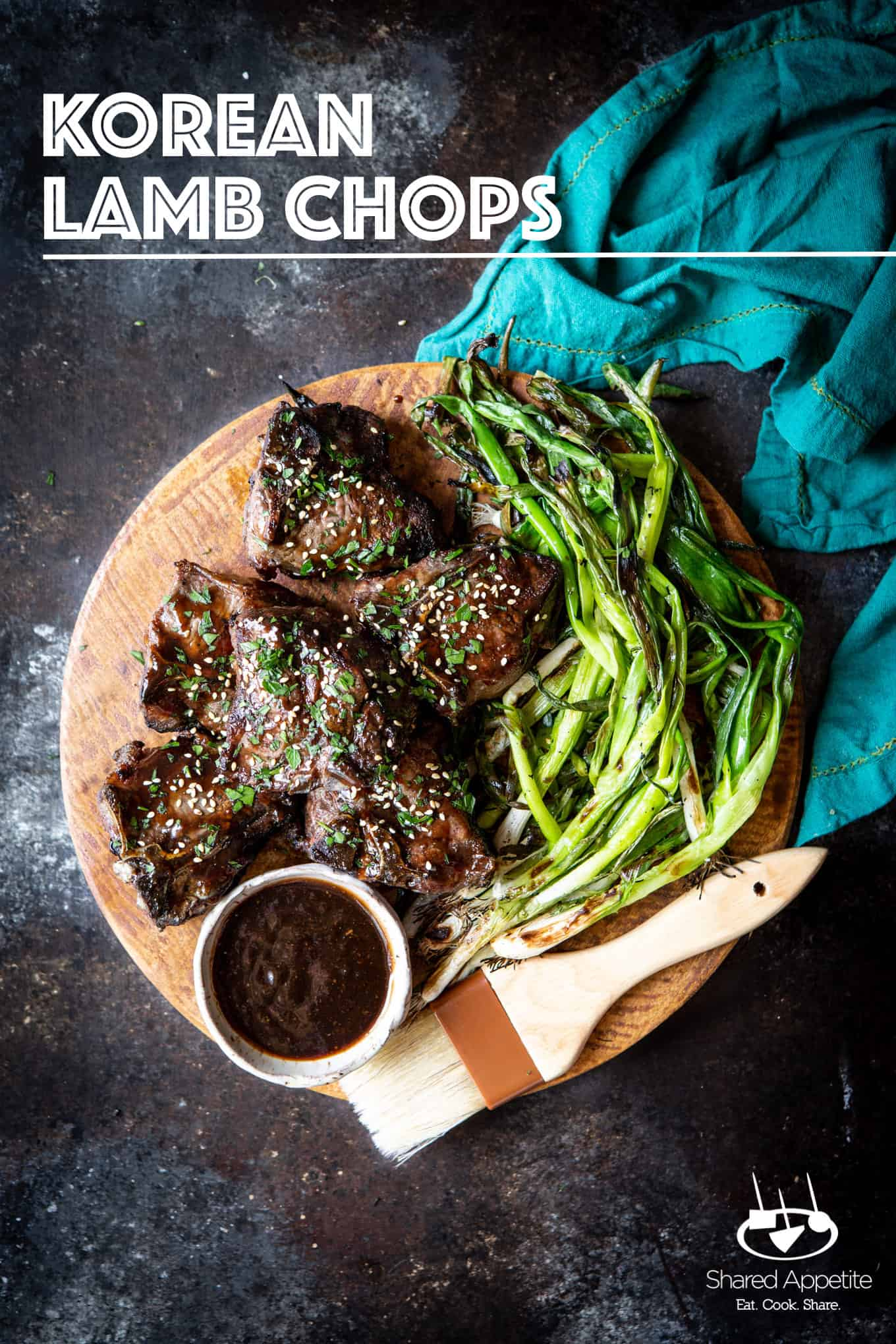 Korean Lamb Chops with Grilled Scallions - Shared Appetite