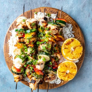 Orange Ginger Chicken Kebabs | sharedappetite.com