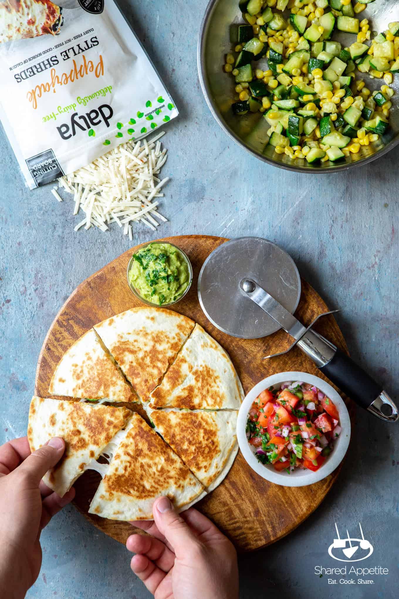 Produce for Vegan Zucchini and Corn Quesadillas | sharedappetite.com
