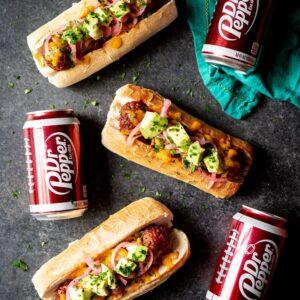 bbq-meatball-subs-dr-pepper-bbq-sauce | sharedappetite.com