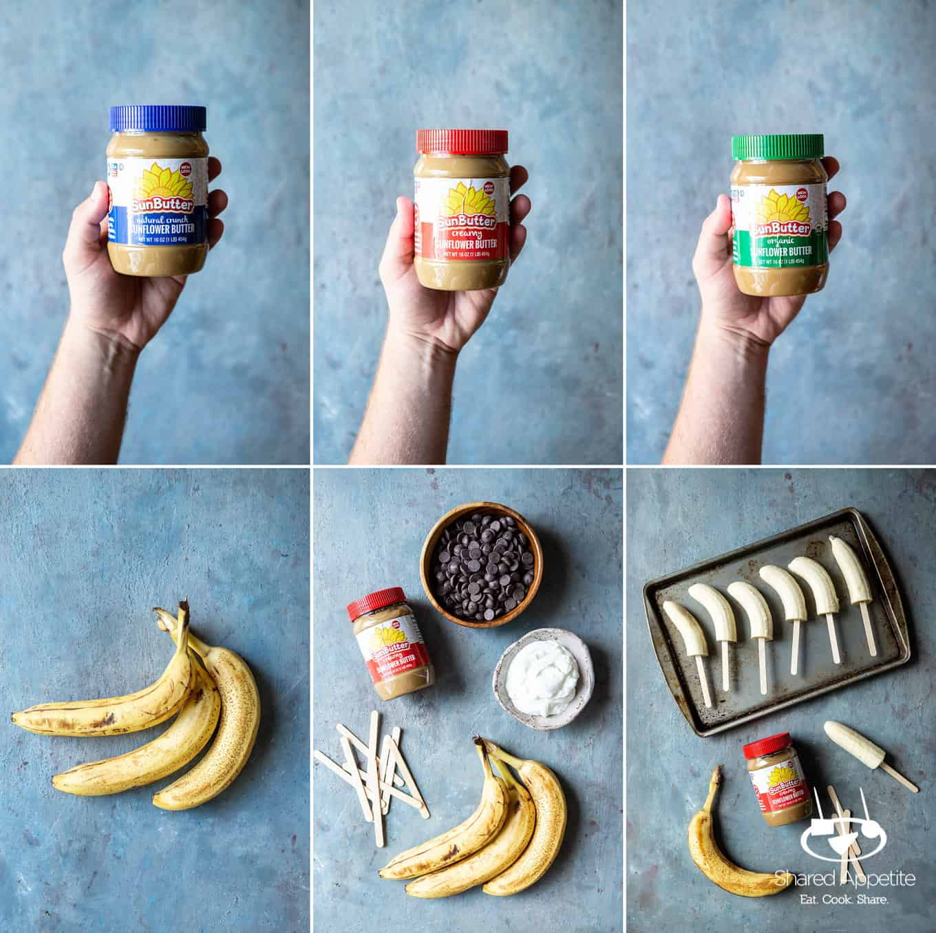making Frozen Banana Pops | sharedappetite.com