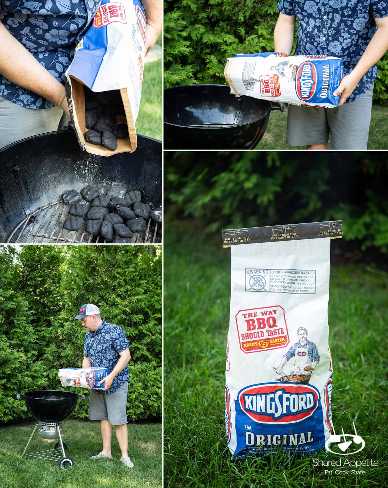 grilling these Peach Bourbon Glazed Pork Chops with Kingsford charcoal | sharedappetite.com