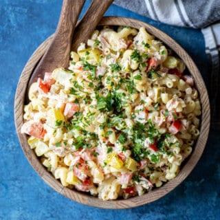 Tuna Mac Macaroni Salad | sharedappetite.com