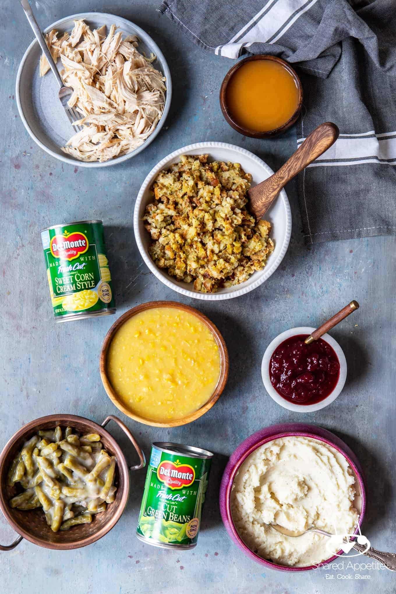 Ingredients for Leftover Thanksgiving Pizza | sharedappetite.com
