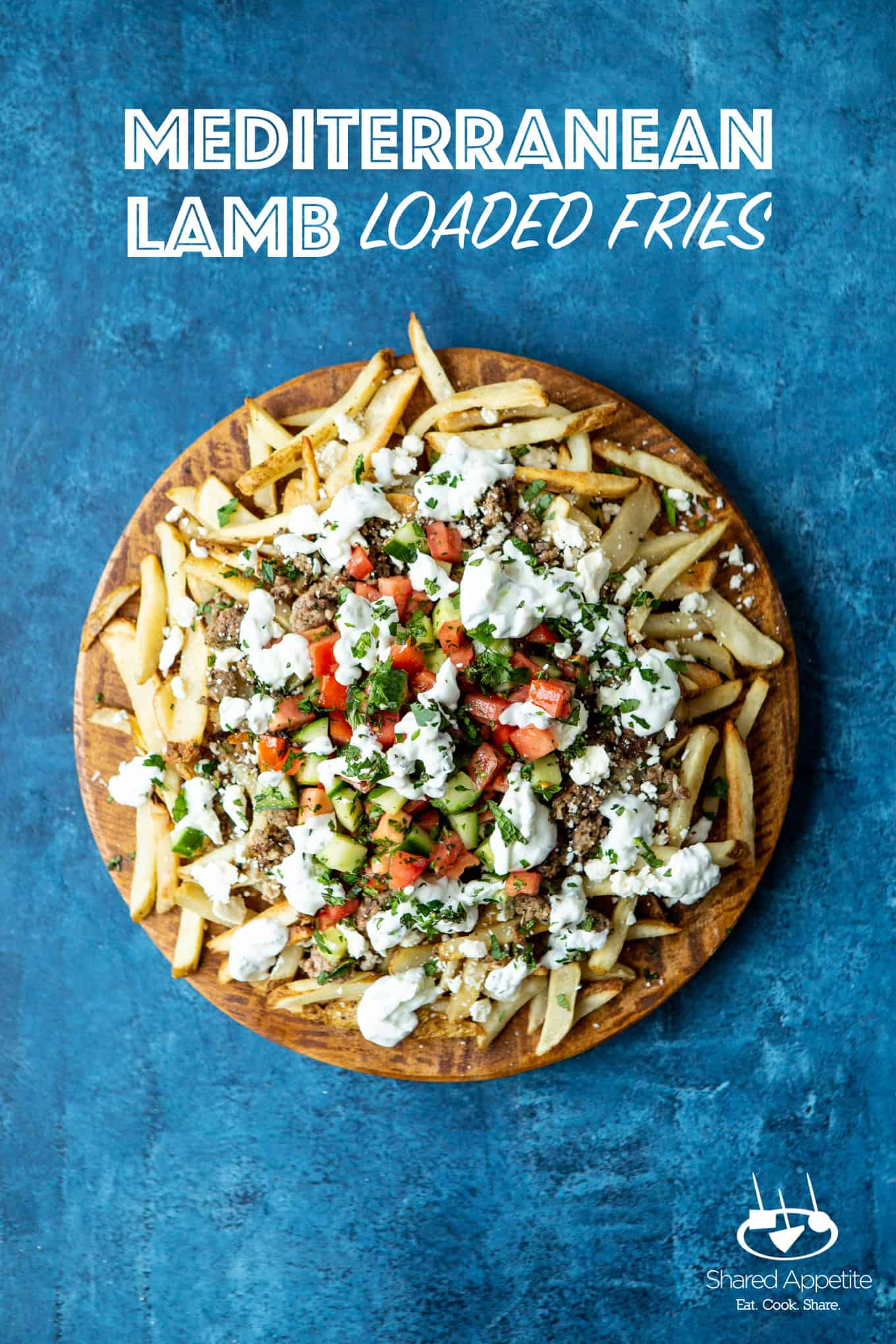 Loaded Mediterranean Lamb Fries | sharedappetite.com