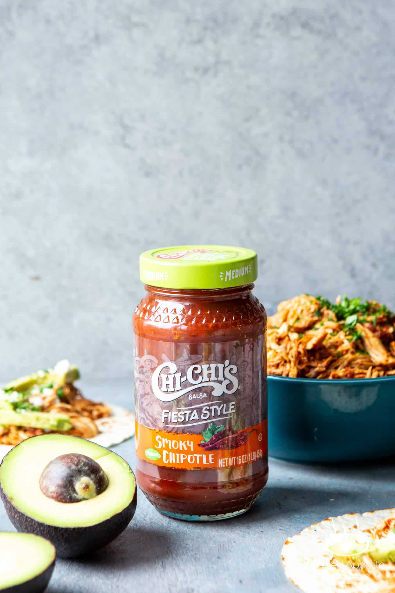 Chi Chi's Chipotle Salsa for Slow Cooker Salsa Chicken Tacos   sharedappetite.com