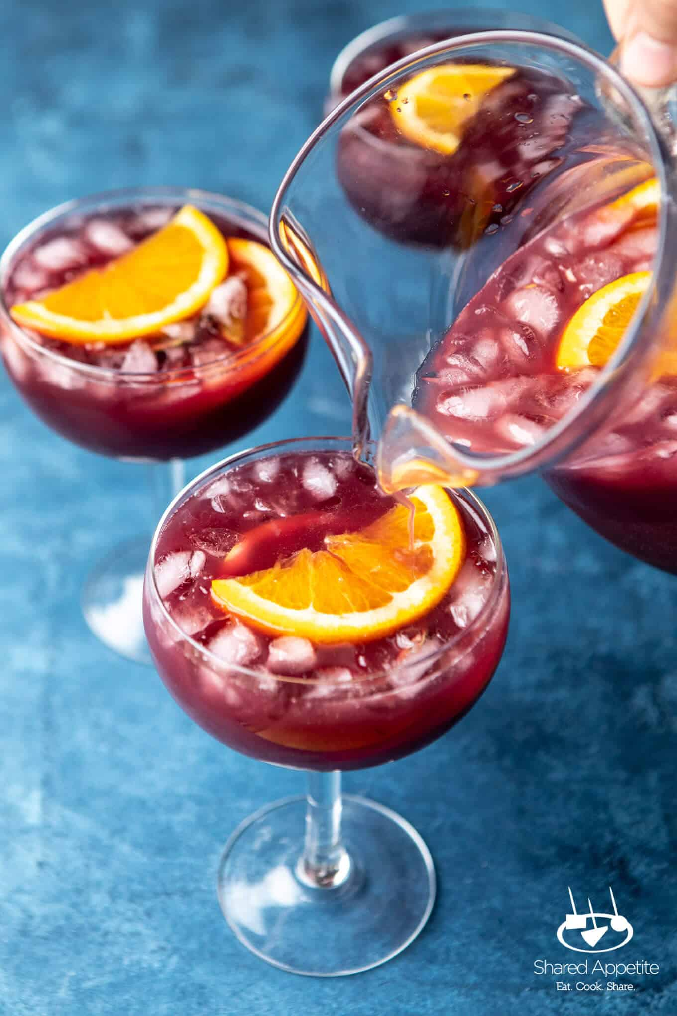pouring Five Minute Instant Sangria