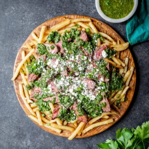 Chimichurri Skirt Steak Fries