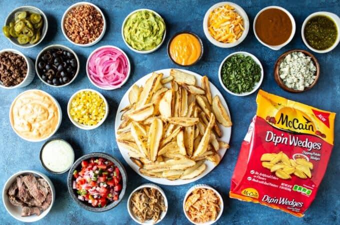 DIY Loaded French Fries Bar   sharedappetite.com