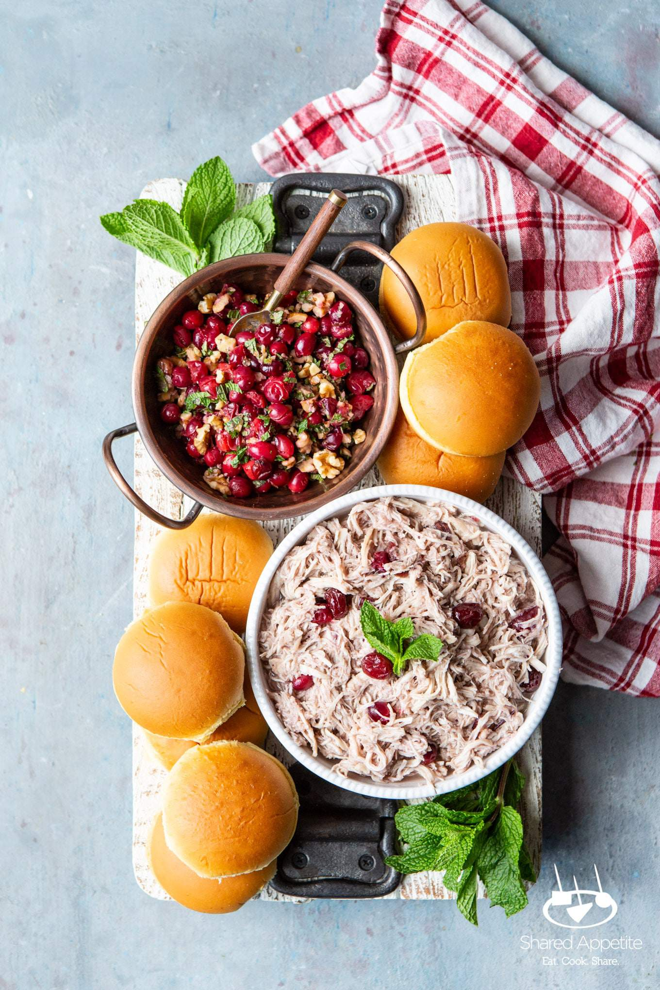 Slow Cooker Cranberry Chicken Sliders with Pickled Cranberry Walnut Salsa