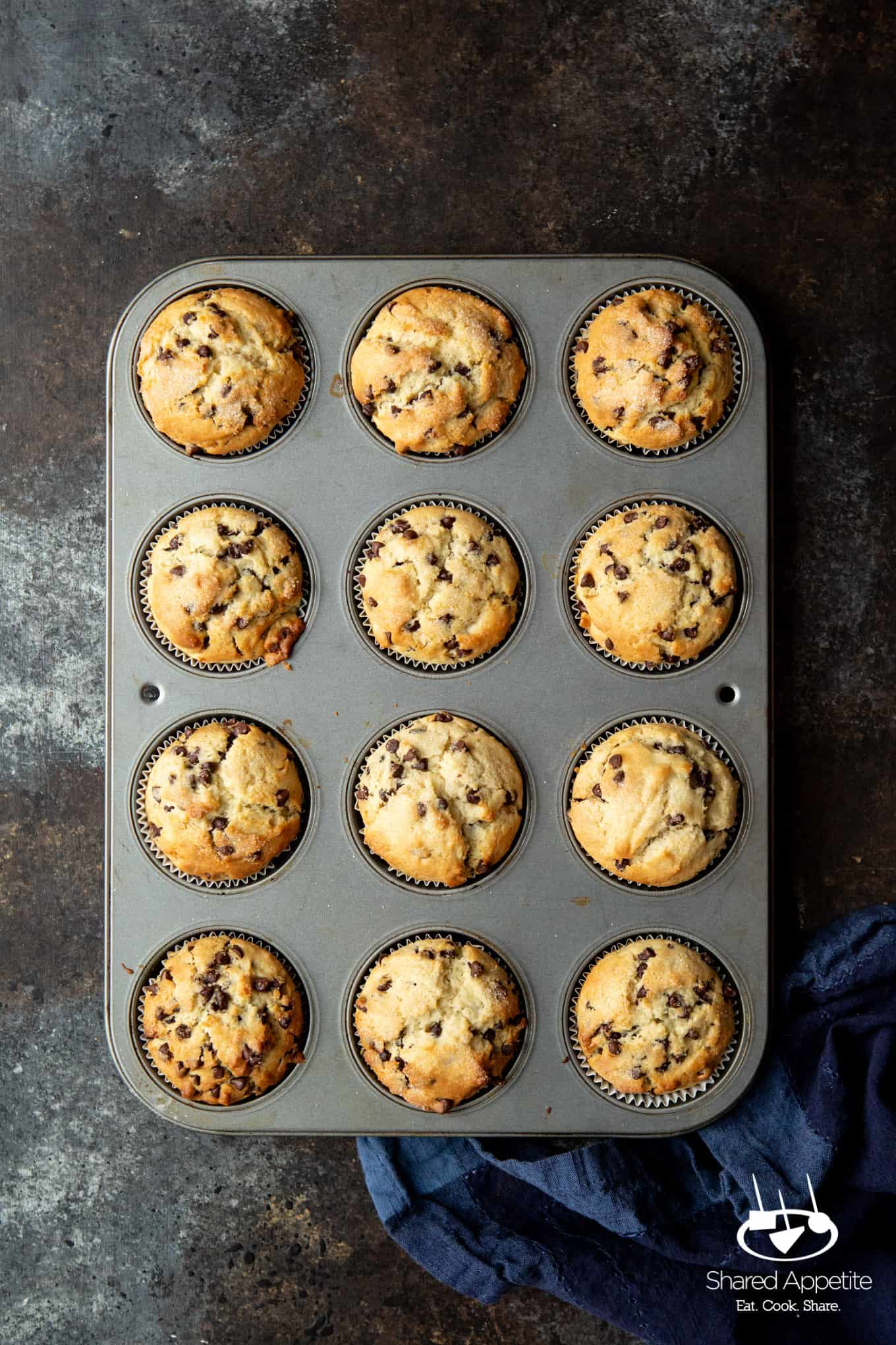 Chocolate Chip Muffins | sharedappetite.com